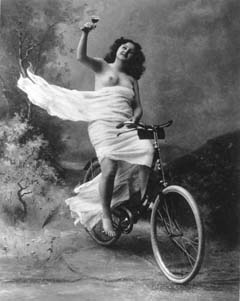 1890 bicycle with nude