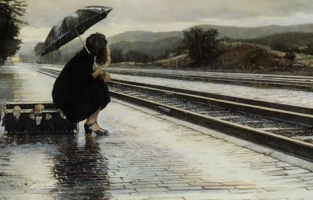 kišobrani i suncobrani - Page 2 Girl-woman-rain-umbrella-train-railway-station-platform-suitcase-485x728